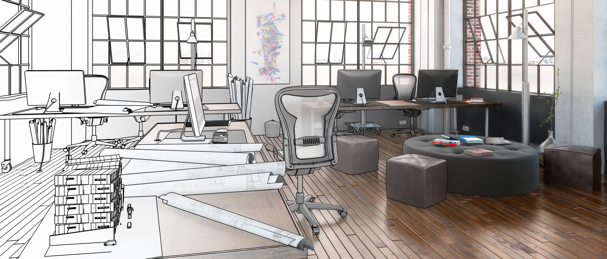 Postindustrial Office Design in Project